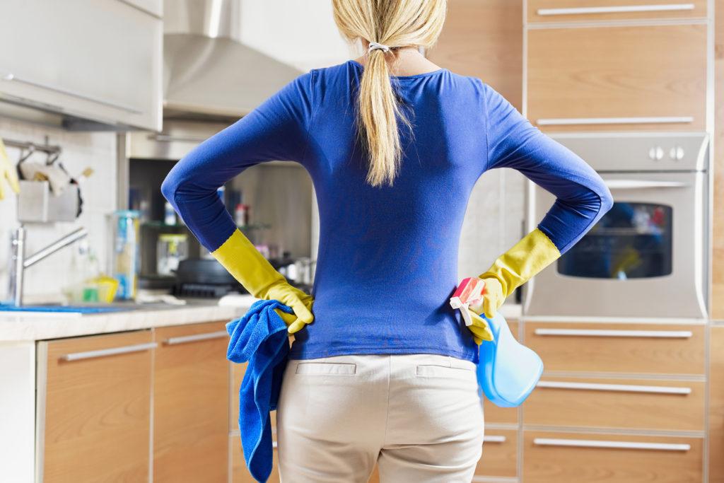 Terug naar school schoonmaken